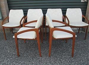 Danish Modern Kai Kristensen Dining Chairs Teak Mid Century Modern Selig Wegner