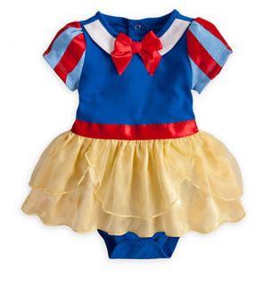 Disney Deluxe Snow White Baby Bodysuit 12 18 Months Girls Princess Costume Dress