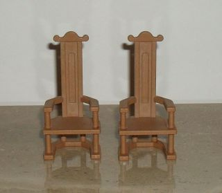 Playmobil 3666 Medieval Castle Knights Throne Chairs Set of Two
