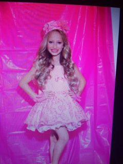 Hollywood Babe Pink Dress and Fur Jacket 5 Pageant OOC