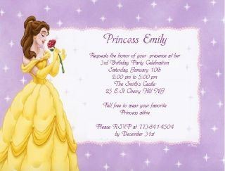 10 princess belle birthday party invitations or matching party supplies 10 princess belle birthday party invitations or thank you cards filmwisefo