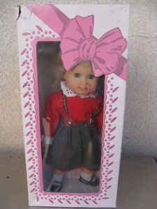 "Vintage Gotz w Germany Soft Baby Weichbaby Poupon Mou Doll 16"" Box Clothing"