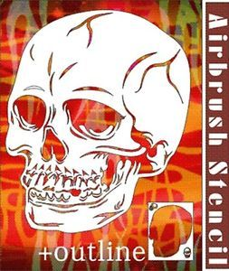 Skull Airbrush Stencil Template Pattern Wall Tattoo Craft Paint Party 010107Y 9