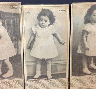 Baby Dionne Quintuplets 1936 Newspaper Paper Dolls Dresses Vtg Cut Outs Uncut