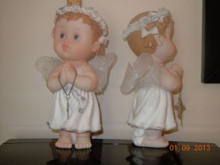 "4pcs Party Favors 9"" Angel Baptism Bautizo Christening Communion Decorations"