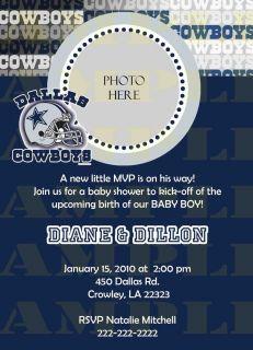 Dallas Cowboys Baby Shower or Birthday Digital Invitation U Print