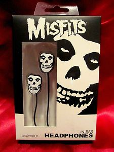 New Misfits Fiend Skull Earbuds iPod Headphones