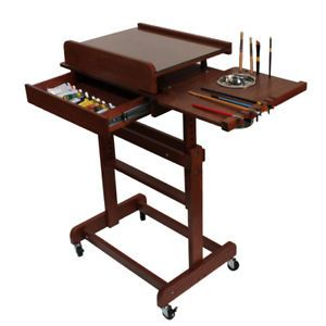 Mobile Rolling Artist Painting Drawing Easel Table