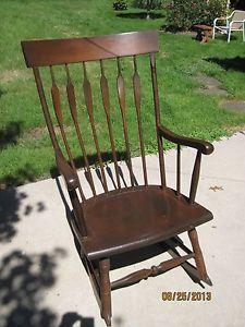 Vintage 1970 Windsor Rocking Chair Nichols Stone Co Gardner Mass