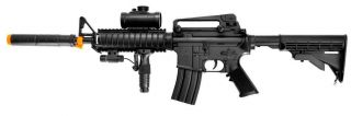 "M16 M4 AEG Airsoft Rifle Full Semi Auto Electric BB Gun Flashlight Laser 37"""