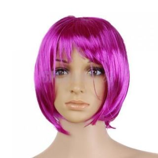 New Short Punk Bob Full Wig Costume Cosplay Party Favor