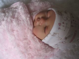 Sleeping Sophia Baby Girl Reborn Doll Sculpt by Nines D'Onil New Clothes Swaddle