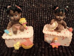 7 African American Baby Girl Trinket Box Party Favor Baby's 1st Birthday Shower