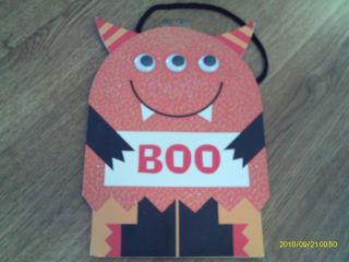 Halloween Boo 3 Eyed Monster Gift Bag with Handle Great Goody Bags