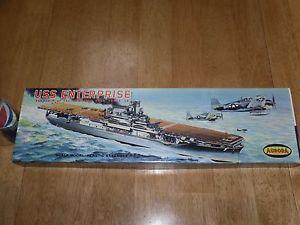WW2 USS Enterprise Aircraft Carrier Plastic Model Kit Aurora