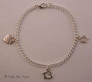 13th 16th 18th 21st 30th 40th 50th 60th 65th Birthday Charm Bracelet Gift