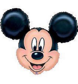 "Set of 3 Mickey Mouse Head 34"" XL Happy Birthday Baby Shower Balloon Minnie"