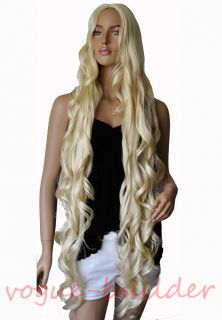 """47"""" Long Blonde Spiral Wavy Costume Cosplay Halloween Party Hair Wig"""