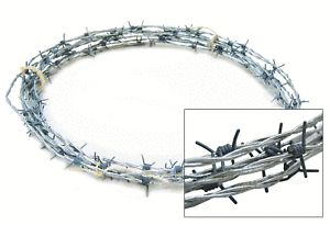 Fake Barbed Wire 5M Plastic Barbs Event Decoration