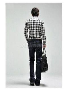 Stylish Mens Slim Fit Casual Dress Suit Shirt Sz M L XL