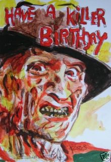 Freddy Krueger Birthday Card Elm Street Horror Slasher