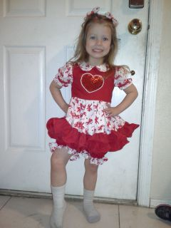 Glitz National Pageant Valentine Wear Dress OOC Outfit 2T 3T 4T