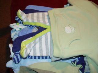 Huge Lot Baby Boy Sleepers Clothes Newborn 0 3 6mos Extra Nice 20pcs
