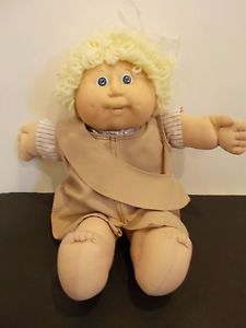 Vintage Cabbage Patch Kids Girl Doll 1978 1983 Blonde Yellow Short Hair Blue Eye