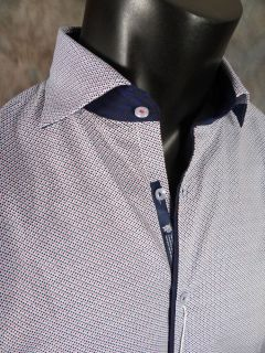 Mens Shirt Stone Rose ist 3107 Baby Blue Red Rivet Collection Button Up Woven