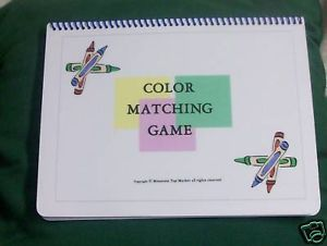 Autism Pecs Matching Colors File Folder Game