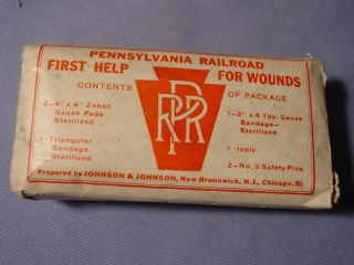 Vintage Pennsylvania Railroad First Aid Kit