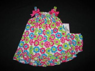 "New ""Bright Crazy Daisy"" Dress Girls Clothes 3M Spring Summer Easter Baby Beach"