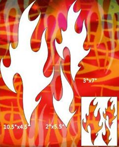 Flame Airbrush Stencil Template Pattern Art Craft Party Wall Painting 012050Y 9