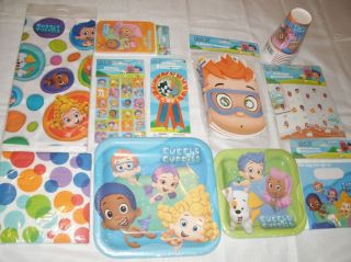 Bubble Guppies Party Set for 8 Bubble Guppies Birthday Party Supplies 92pc