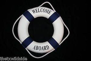 1 Life Ring Preserver Welcome Sign Entry Boat Party Supply Tiki Bar