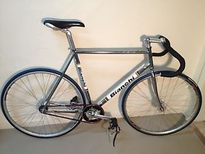 57cm Bianchi Pista Chrome Complete Track Fixed Gear Bike Frame Frameset Super
