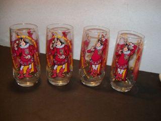 Burger King Lot Drink Glasses Character Fast Food Promo Drink