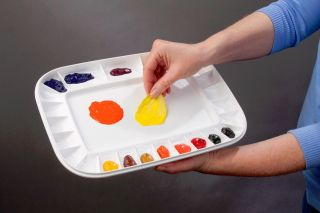 Mijello Peelable Acrylic Oil Paint 28 Well Sealable Painting Palette Artist