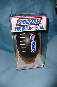 New Snickers Football Candy Bowl NFL Football League Fun Party Gift Superbowl
