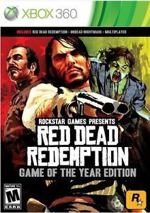 Red Dead Redemption Game of The Year Edition Xbox 360 Games Brand New US English