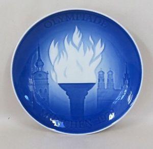 1972 Royal Copenhagen Porcelain Munich Olympic Games Commemorative Plate