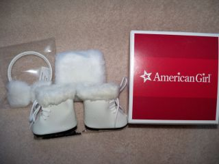 American Girl Molly Ice Skates Muff Ear Muff Outfit Retired