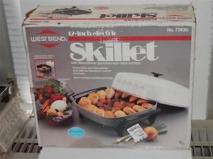 West Bend 12 inch Electric Skillet New Complete in Original Box