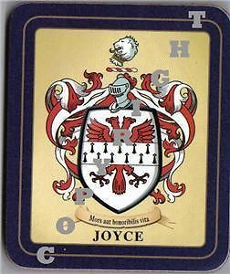 Joyce Heraldic Family Coat of Arms Coasters Sets 2