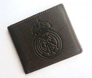 New Real Madrid Fans Soccer Sport Fans Genuine Leather Wallet Purse
