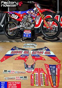2002 08 Honda CR 125 250 Lucas Oil Troy Lee Designs Graphics Made by Enjoy Mfg