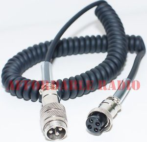 5' 4 Pin Mic Microphone Extension Cable Adapter Icom Alinco and CB Radios