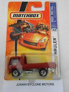 Matchbox Tow Truck Flatbed Hauler Red