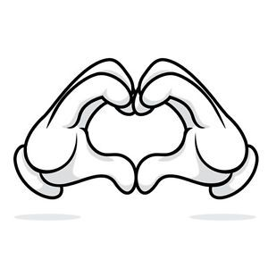 Mickey Mouse Hands Heart Vinyl Decal for Cars Truck SUV Laptops Tablets