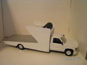Chevy Custom Modified Dirt Late Model Race Car Tow Flatbed Ramp Hauler Truck